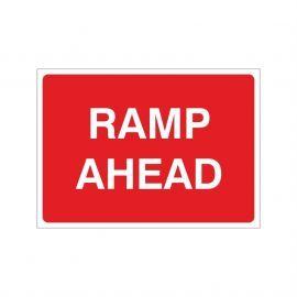 Ramp Ahead Temporary Sign - 1050W x 750Hmm