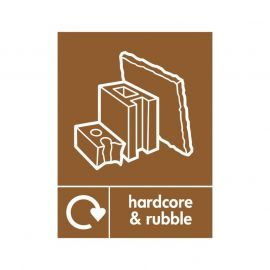 Hardcore And Rubble Sign