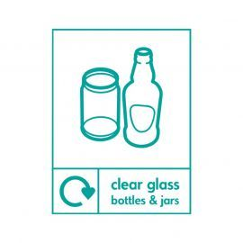 Clear Glass Bottles And Jars Sign