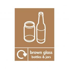 Brown Glass Bottles And Jars Sign