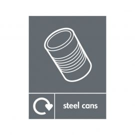 Steel Cans Sign