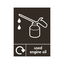 Used Engine Oil Sign