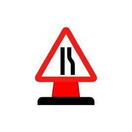 Road Narrows To The Right Aluminium Composite Cone Sign