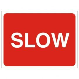 Slow Temporary Traffic Sign