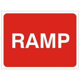 Ramp Temporary Traffic Sign