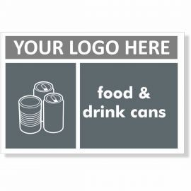 Food & Drink Cans Recycling Sign