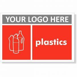 Plastics Recycling Sign