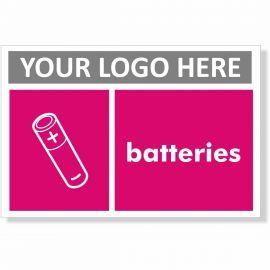 Batteries Recycling Sign