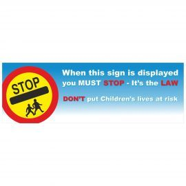 When This Sign Is Displayed You Must Stop It's The Law School Sign