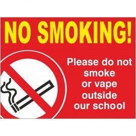 No Smoking School Sign - Composite Board