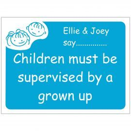 Children Must Be Supervised By A Grown Up School Sign - Composite Board
