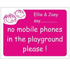 No Mobile Phones In The Playground School Sign - Composite Board