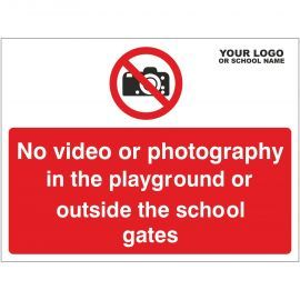 No Video Or Photography In The Playground Or Outside The School Gates Sign - Composite Board