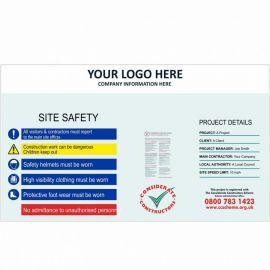 Site Safety Hoarding Board