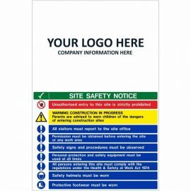 Site Safety Notice Multi Message Safety Board