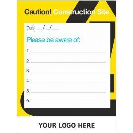 Custom Caution Construction Site Sign  900mm x 1200mm