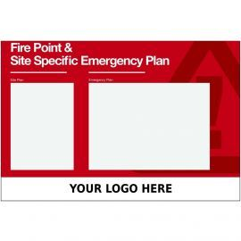 Custom Fire Point And Site Specific Emergency Plan Sign 900mm x 600mm