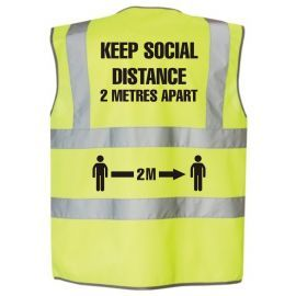 Social Distance High Vis Vest - Keep 2 Metres Apart