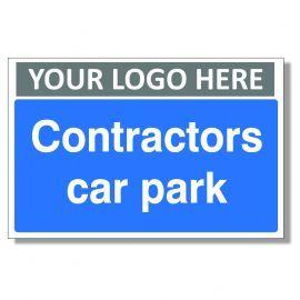 Contractors Car Park Custom Logo Sign