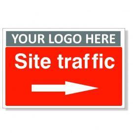 Site Traffic Arrow Right Custom Logo Sign