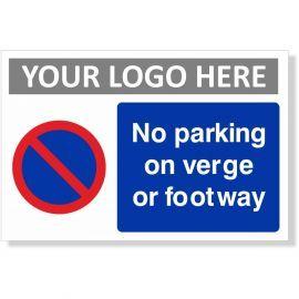 No Parking On Verge Or Footway Sign