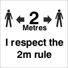 I Respect The 2m Rule Helmet Sticker