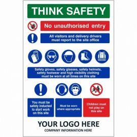 Think Safety Multi Message Safety Board