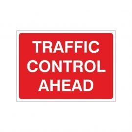 Traffic Control Ahead Temporary Sign - 1050W x 750Hmm