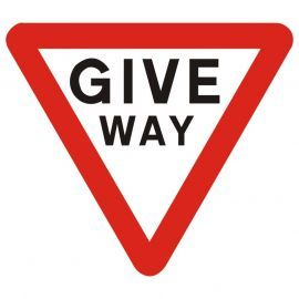 Give Way Traffic Sign - Composite Board