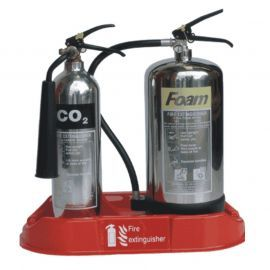 Double Fire Extinguisher Stand