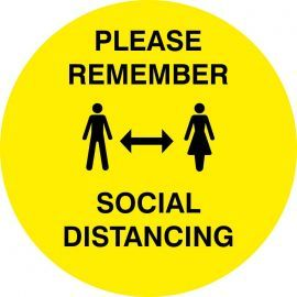 Please Remember Social Distancing Floor Sticker