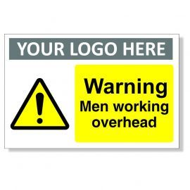 Warning Men Working Overhead Custom Logo Sign