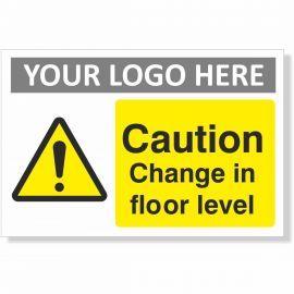 Caution Change in Floor Level Sign (Landscape)