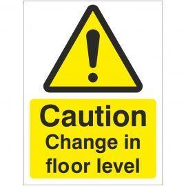 Caution Change In Floor Level Sign