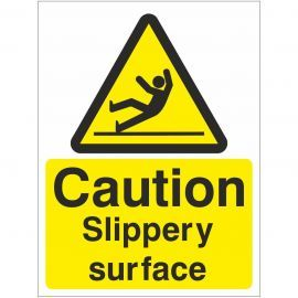Caution Slippery Surface Sign