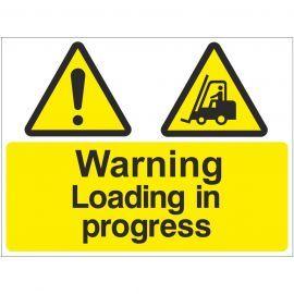 Warning Loading In Progress Sign
