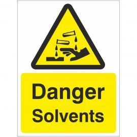 Danger Solvents Sign