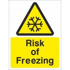 Risk Of Freezing Sign