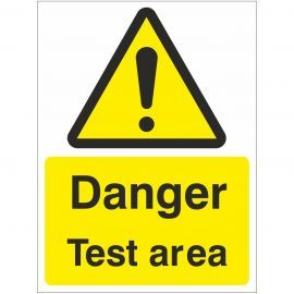 Danger Test Area Sign