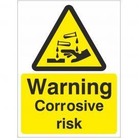Warning Corrosive Risk Sign