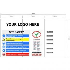 Custom Site Safety Sign 360mm x 2100mm