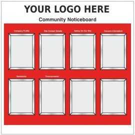 Custom Community Noticeboard Sign Complete With Snap Frame 1200mm x 1200mm