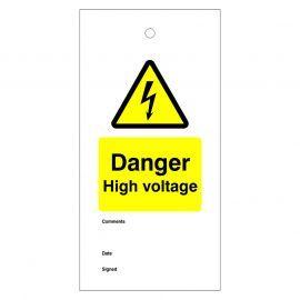 Danger High Voltage Warning Tags