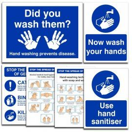 Wash Your Hands Hygiene Sign Pack