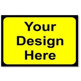 Your Design Here - Yellow Traffic Sign - 1050Wmm x 750Hmm