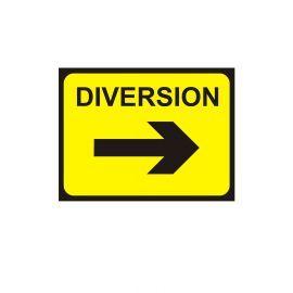 Diversion Right Arrow - Traffic Sign - 1050W mm x 750Hmm