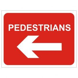 Pedestrians Keep Left Temporary Traffic Sign