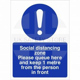 Social Distancing Zone Sign - 1 Metre