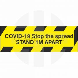 Covid-19 Stop The Spread Stand 1m Apart Sticker (Multipack)