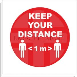 Keep Your Distance Sign Stickers - 1 Metre (multipack)